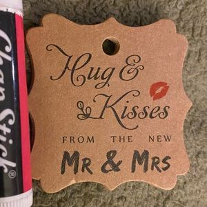 100 Cardstock Tags Hugs & Kisses From The New
